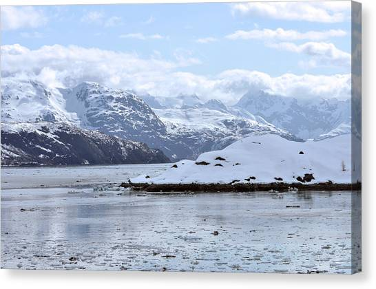 Fantasy In Ice Canvas Print by Judith Russell-Tooth