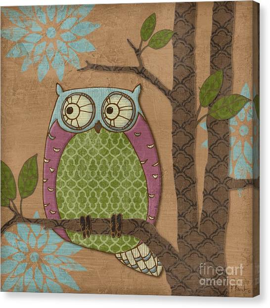 Owls Canvas Print - Fantasy Owl Iv by Paul Brent