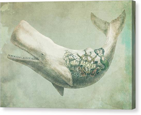 Ocean Animals Canvas Print - Far And Wide by Eric Fan