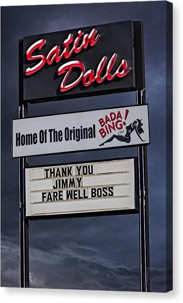 The Sopranos Canvas Print - Farewell Boss by Susan Candelario