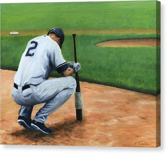 Derek Jeter Canvas Print - Farewell Captain by Joe Maracic