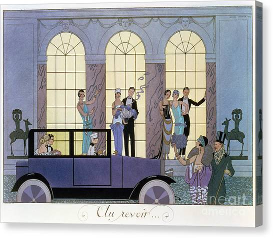 Economics Canvas Print - Farewell by Georges Barbier