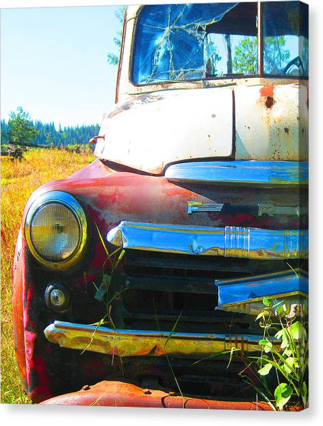 Fargo Red And White Canvas Print