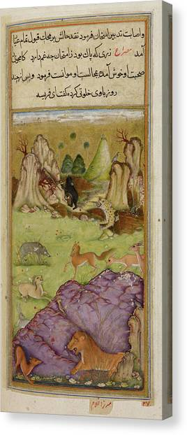 Fabled Canvas Print - Farisa The Pious Jackal by British Library