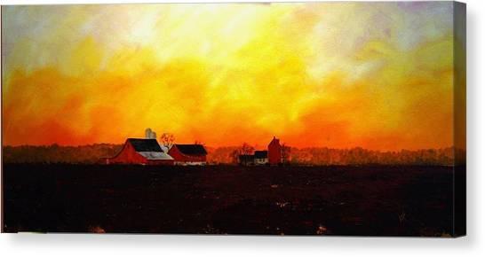 Farm At Dawn Canvas Print