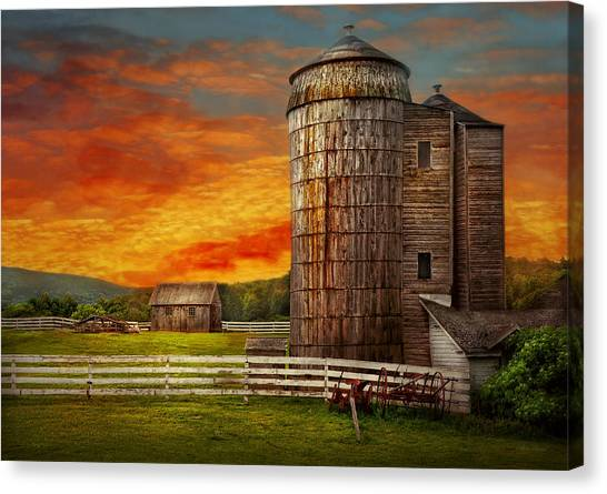 Tractors Canvas Print - Farm - Barn - Welcome To The Farm  by Mike Savad
