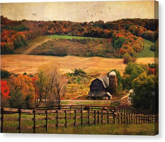 Farm Country Autumn - Sheldon Ny Canvas Print