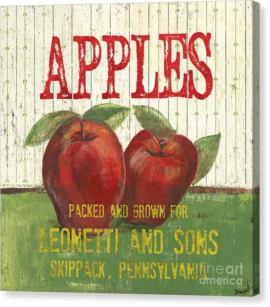 Apples Canvas Print - Farm Fresh Fruit 3 by Debbie DeWitt