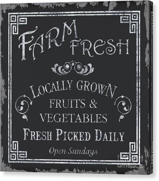 Cakes Canvas Print - Farm Fresh Sign by Debbie DeWitt