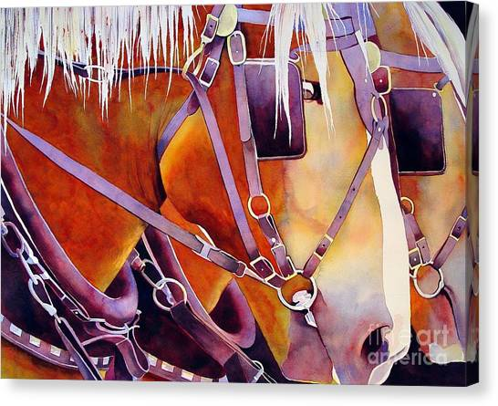 Draft Horses Canvas Print - Farm Horses by Robert Hooper