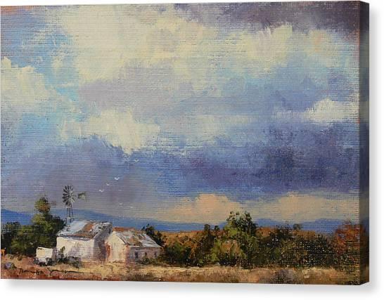 Farm In The Karoo Canvas Print