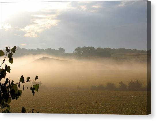 Farm Morning By Angieclementine Canvas Print by Angie Phillips