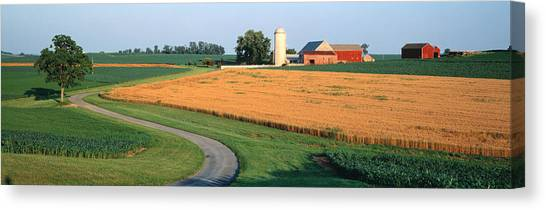 Contour Canvas Print - Farm Nr Mountville Lancaster Co Pa Usa by Panoramic Images