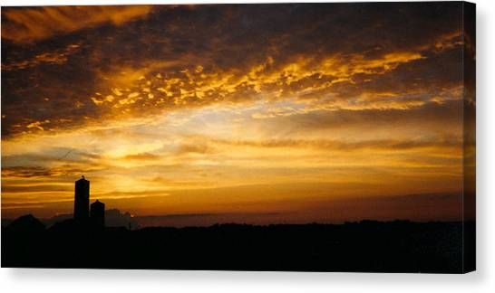 Farm Sunset Canvas Print