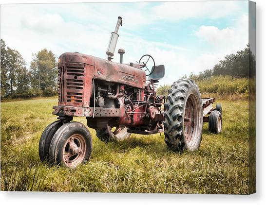 Farmall Tractor Dream - Farm Machinary - Industrial Decor Canvas Print