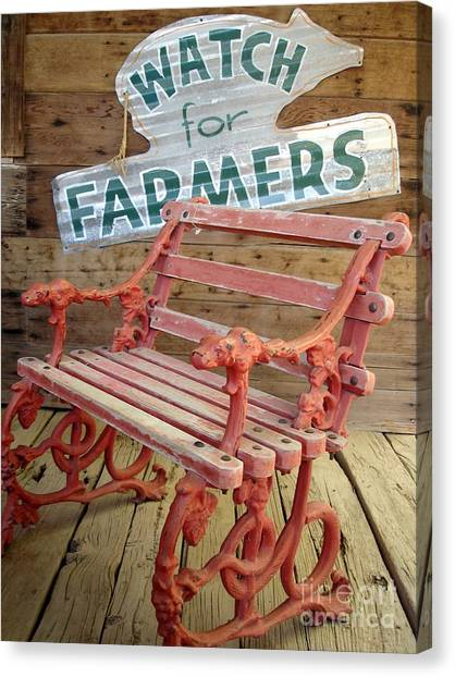 Farmer Bench Canvas Print
