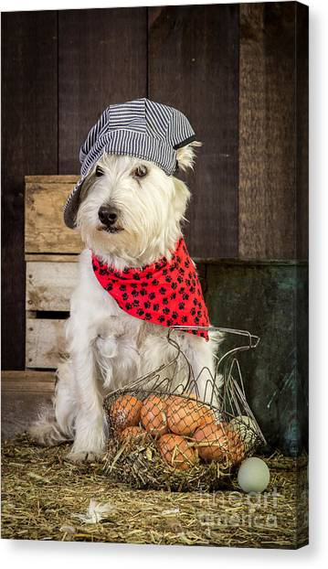 Tiki Canvas Print - Farmer Dog by Edward Fielding
