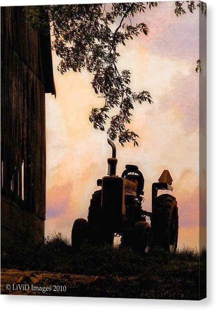 Farmers Sunset Canvas Print
