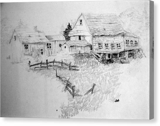 Farmhouse And Barn Canvas Print