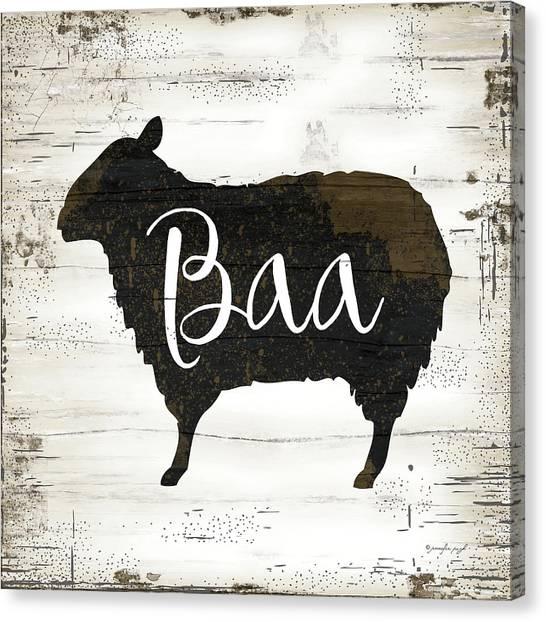 Sheep Canvas Print - Farmhouse Sheep by Jennifer Pugh