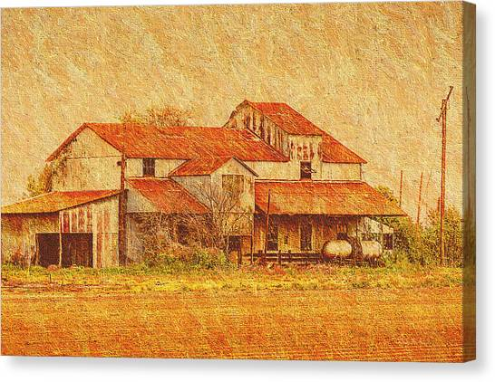 Farm - Barn - Farming The Delta Canvas Print by Barry Jones