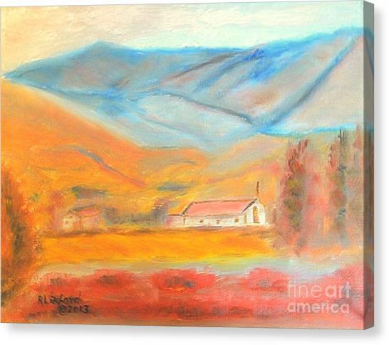 Real Salt Lake Canvas Print - Farmington Utah Mountains by Richard W Linford