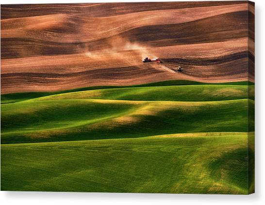 Tractors Canvas Print - Farmland by Lydia Jacobs