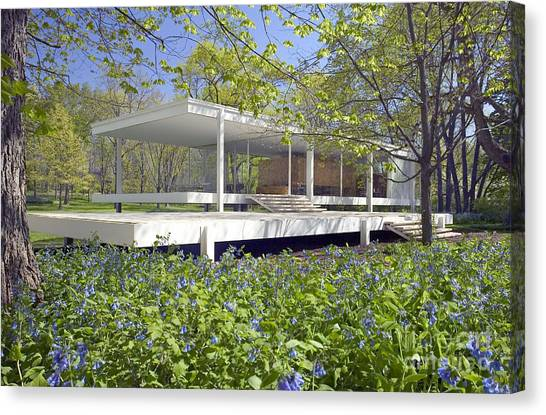 Farnsworth House Illinois Canvas Print