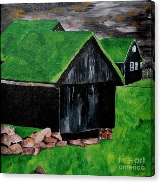 Faroe Houses Canvas Print