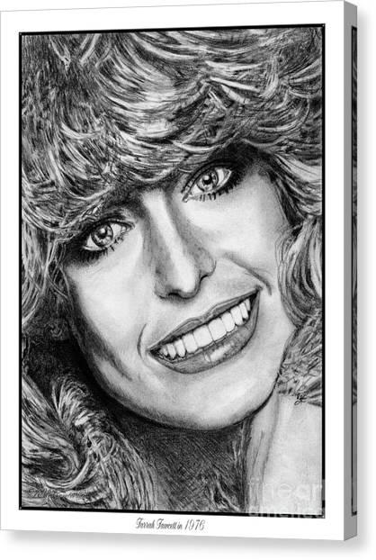 Canvas Print - Farrah Fawcett In 1976 by J McCombie