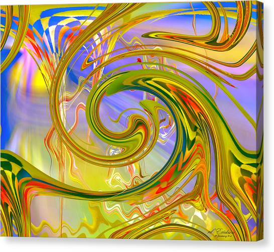Canvas Print featuring the digital art Fascinating by rd Erickson