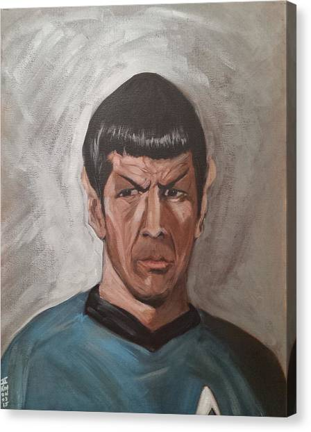 Spock Canvas Print - Fascinating by Tu-Kwon Thomas