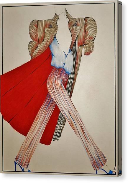 Prisma Colored Pencil Canvas Print - Fashion Illustration by Joy Bradley