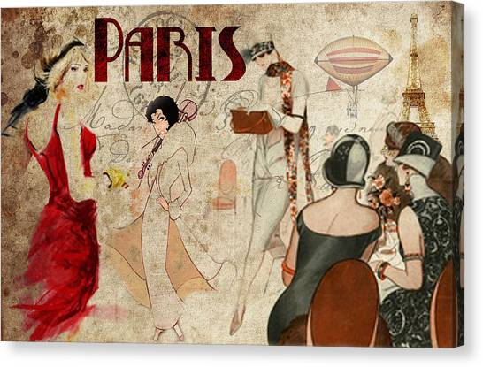 Fashion In Paris Canvas Print