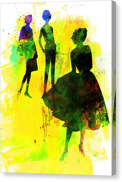 Vogue Canvas Print - Fashion Models 2 by Naxart Studio