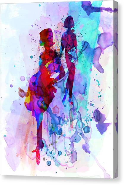 Vogue Canvas Print - Fashion Models 5 by Naxart Studio