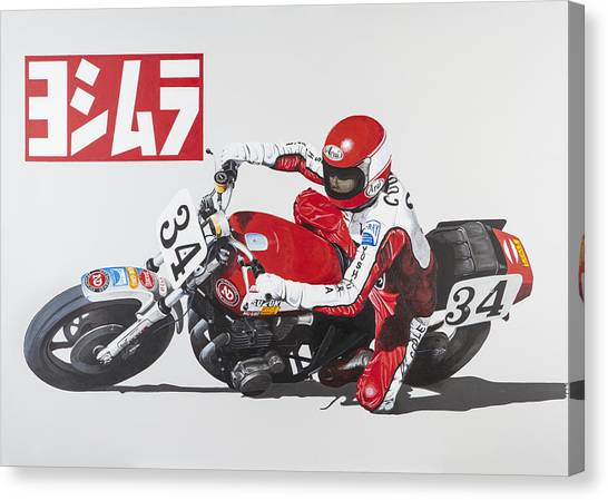 Motorycycles Canvas Print - Fast And Fearless by John Savage