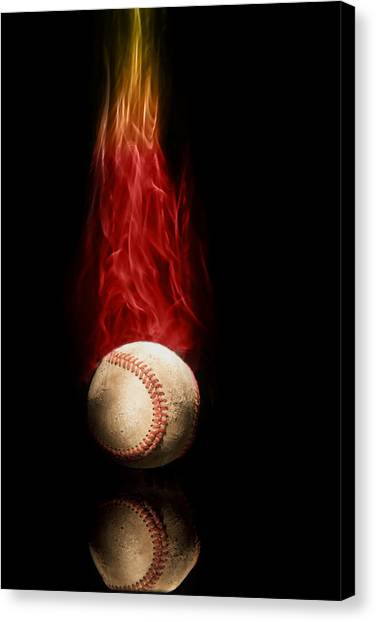 Flames Canvas Print - Fast Ball by Tom Mc Nemar