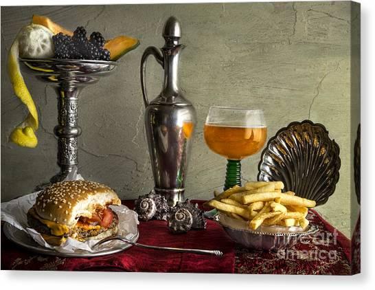Burger Canvas Print - Fast Food by Elena Nosyreva