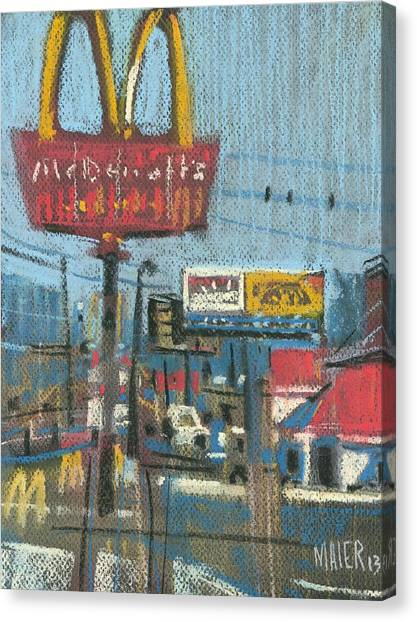 Fast Food Canvas Print - Fast Foods by Donald Maier