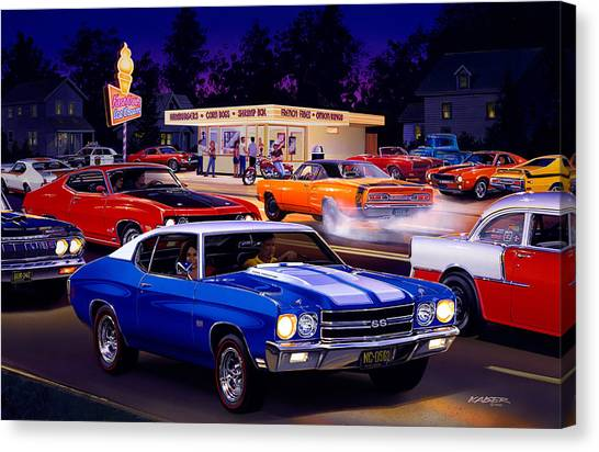 Dodge Canvas Print - Fast Freds by Bruce Kaiser