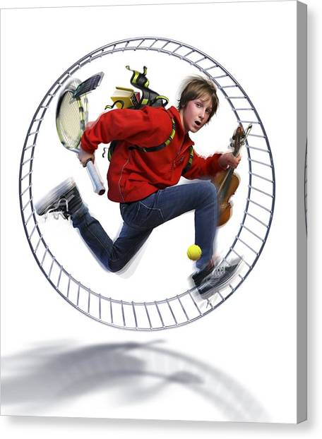 Fast Ball Canvas Print - Fast-paced Lifestyle, Conceptual Image by Science Photo Library