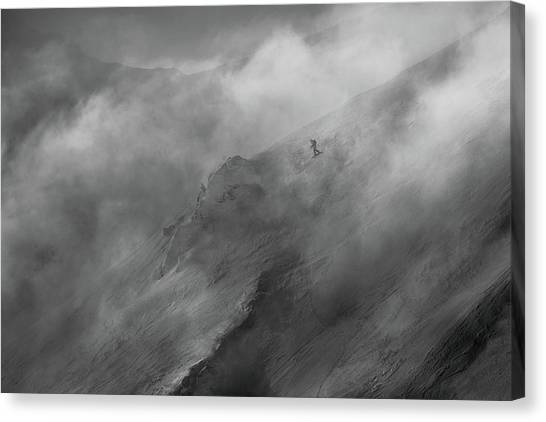Snowboarding Canvas Print - Faster Than Clouds by Peter Svoboda, Mqep