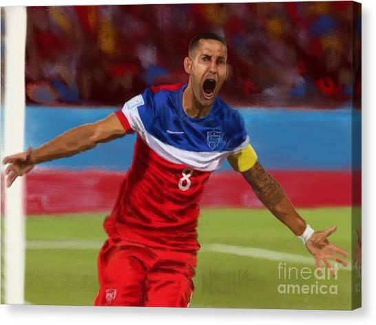 Clint Dempsey Canvas Print - Fastest Goal by Jeremy Nash