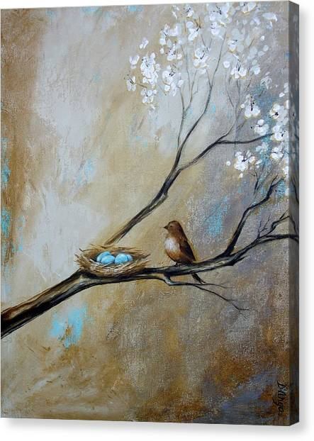 Fat Little Bird's Nest Canvas Print