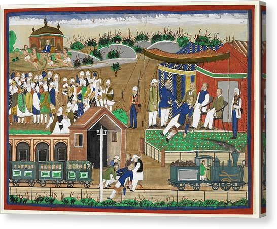 Sikh Canvas Print - Fatal London Underground Accident by British Library