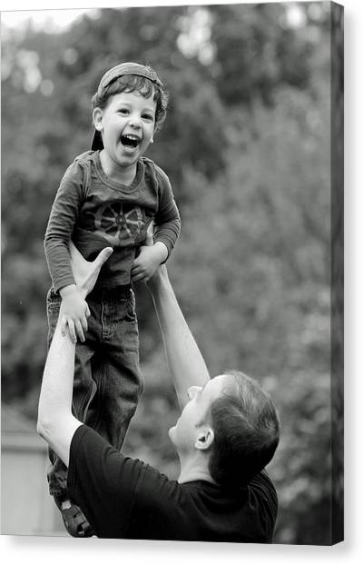 Father And Son Canvas Print - Father And Son IIi by Lisa Phillips