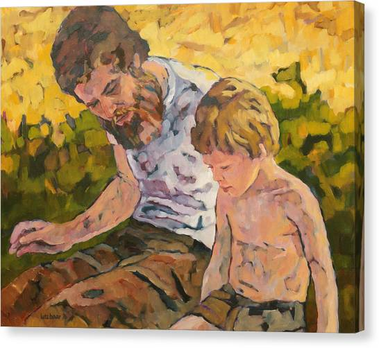 Father And Son Canvas Print - Father And Son by Lutz Baar