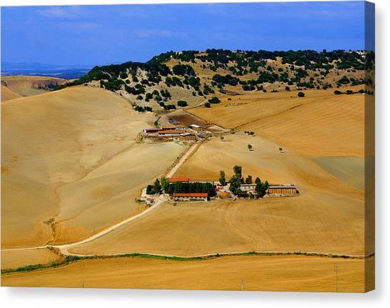 Farm In Rural Tarquinian Canvas Print