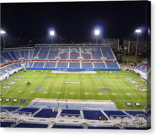 Conference Usa Canvas Print - Fau Stadium by Georgia Fowler